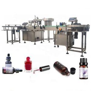 Máquina de llenado de botellas de aceite esencial de 3 KW con dispositivo antigoteo de succión