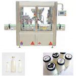 Máquina de tapado de embotellado de 4 cabezas, máquina de llenado y tapado de líquido de jarabe
