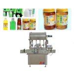 Máquina de llenado de botellas de pasta de salsa de 750 Kg 5 KW con pantalla táctil