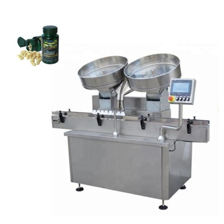 Máquina automática de llenado de conteo de tabletas de cápsulas de pastillas de acero inoxidable