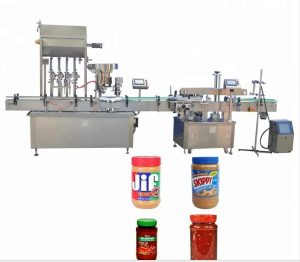 Máquina de tapado de botellas con pantalla táctil a color