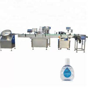 Máquina de llenado de botellas con cuentagotas con dos cabezales de llenado