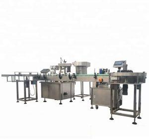 Máquina automática de llenado y taponado de botellas de alta capacidad