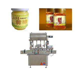 Máquina de llenado de botellas de pasta de salsa de control PLC