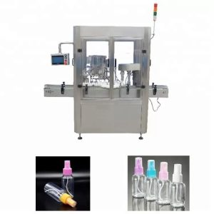 Máquina de llenado de perfumes con sistema de control PLC