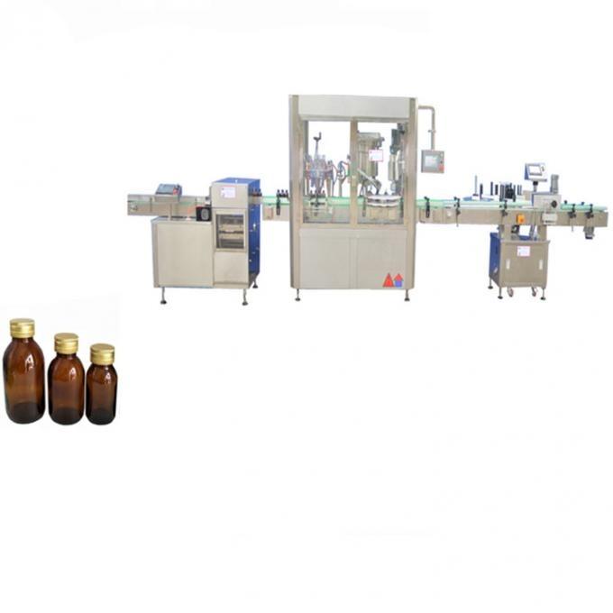 Máquina automática de llenado de líquidos con bomba de pistón