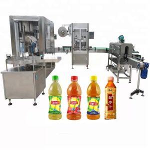 Máquina automática de llenado de líquidos con cabezal de rosca