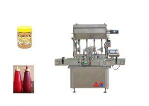 Máquina de llenado de botellas de pasta de salsa líquida semi