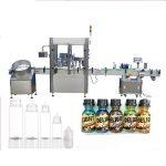 Máquina de llenado de botellas con cuentagotas de servomotor, máquina para taponar perfumes con control de pantalla táctil