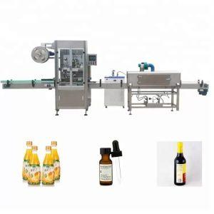 Máquina etiquetadora de botellas retráctiles de manga