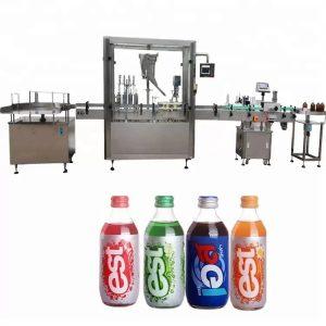 Máquina de tapado y llenado de botellas con pantalla táctil