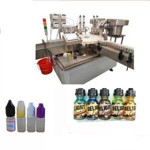 Máquina de etiquetado de pantalla táctil para botellas pequeñas