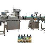 Máquinas de llenado de botellas completamente automáticas de dos cabezas para botellas de ámbar de 30 ml