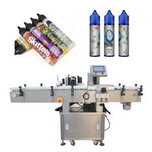 Máquina de etiquetado automático de envases de madera